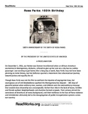 Primary Source and Reading Comprehension Question Set