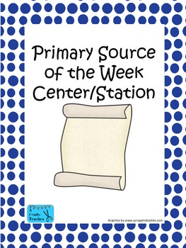 Primary Source of the Week Center