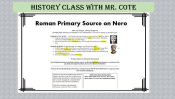 Primary Source on Nero