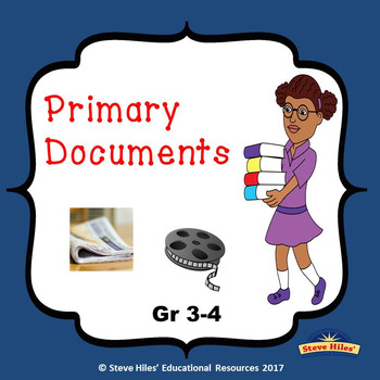 Primary Sources: 3rd & 4th Grade