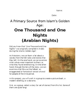 Primary Sources Art Project- Arabian Nights - Medieval Islam