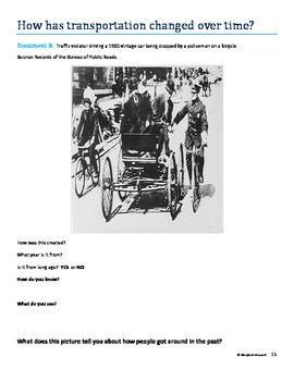 Primary Sources & Evidence Based Essays:  Transportation