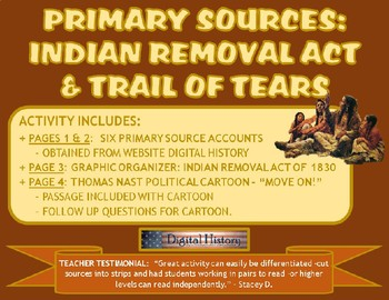 Primary Sources: Indian Removal Act and Trail of Tears