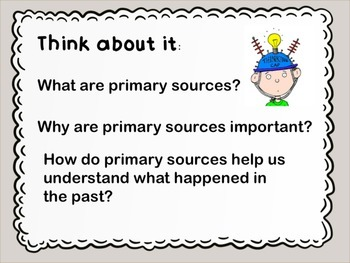Primary Sources Introduction Social Studies and Reading