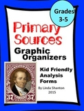 Primary Sources and Social Studies -  Graphic Organizers