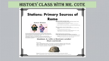 Primary Sources from Rome: Stations