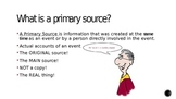 Primary Sources vs. Secondary Sources