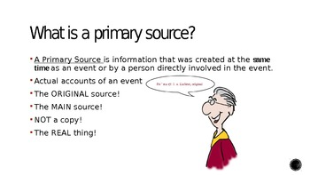 Primary Sources vs. Seconda... by Melissa McDonough | Teachers Pay ...