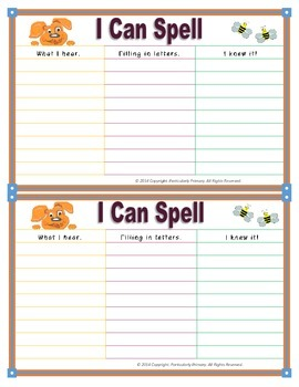 Primary Speller Cards