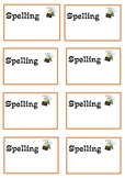 Primary Spelling Book Label