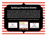 Primary Spelling Practice Sheets