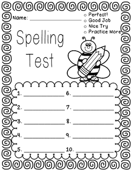 Primary Spelling Tests
