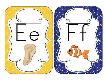 Primary Starry Skies Alphabet Cards
