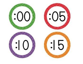 Primary Starry Skies Clock Numbers