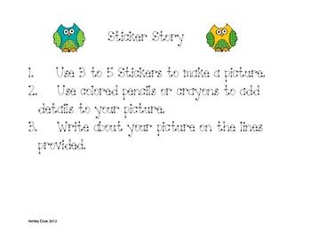 Primary Sticker Story