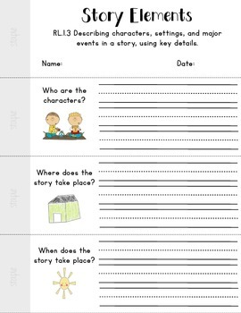 Story Elements {Discussion Dice & Flip Book}