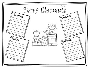 Primary Story Elements (Story Map) Printable