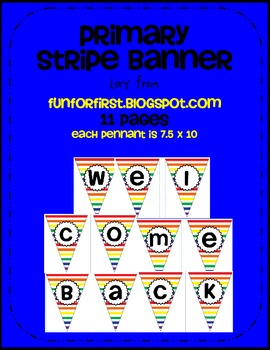 Primary Stripe Welcome Back Banner