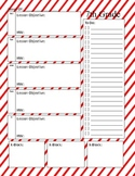 Primary Stripes Weekly Lesson Plan Template