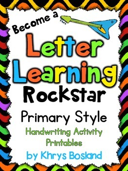 Primary Style Handwriting Activity Printables {No Prep Work}