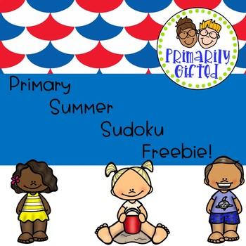 Primary Summer Sudoku Freebie