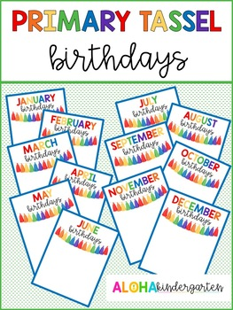 Primary Tassel Birthday Posters