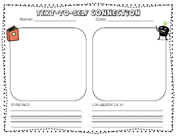 Primary Text To Self Connections Graphic Organizer By Kristen Hinnegan