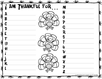Primary Thanksgiving Activities