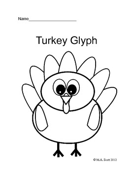Primary Thanksgiving Turkey Glyph