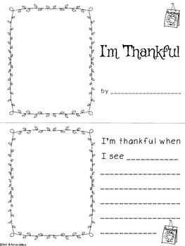 Primary Thanksgiving Writing Pack