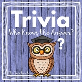 Kindergarten- 6th Grade-Trivia: -Who Knows the Answer!