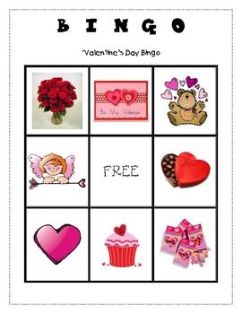 Primary Valentine's Day Bingo - Picture Version