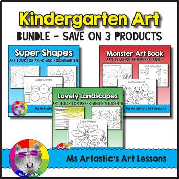 kindergarten art book bundle art lessons by ms artastic tpt