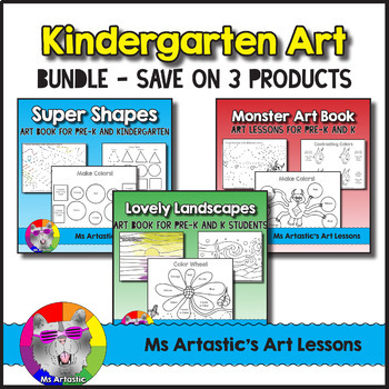 Kindergarten Art Book Bundle Art Lessons By Ms Artastic Tpt