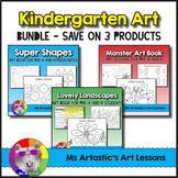 Kindergarten Art Book Bundle, Art Lessons