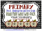 Primary - Visual Math Word Wall