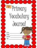 Primary Vocabulary Journal: Movie Theater Theme
