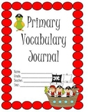 Primary Vocabulary Journal: Pirate Theme