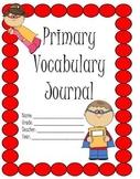 Primary Vocabulary Journal: Superkid Theme
