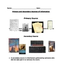 Primary vs Secondary Sources
