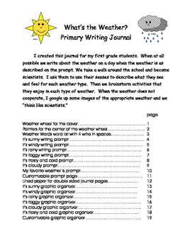 Primary Weather Journal