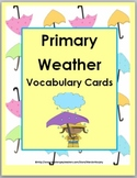 Weather Vocabulary Literacy & Science Word Wall for Primary Illustrated