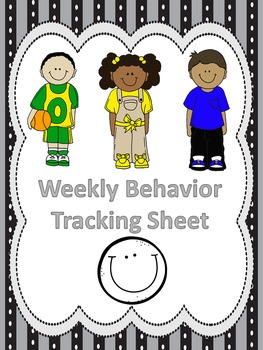 Primary Weekly Behavior Chart With Faces