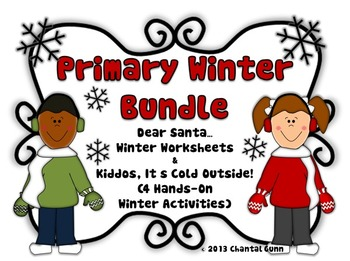 Primary Winter Bundle (Winter Activities and Worksheets)