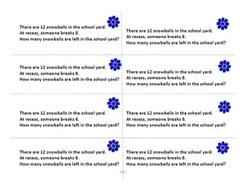 Primary Winter Math Journal Prompts I