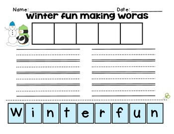 Primary Winter Word Work Centers Packet