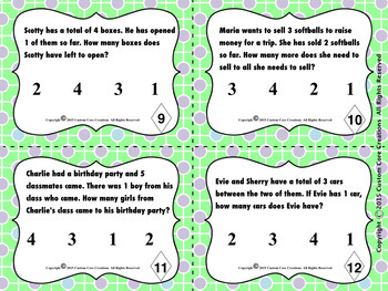 Primary Word Problems Task Cards