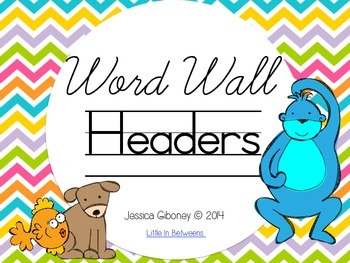 Primary Word Wall Headers