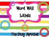 Primary Word Wall Labels