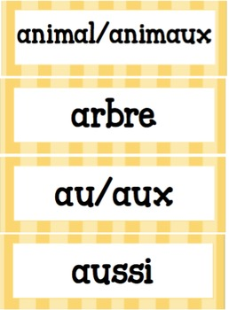 Primary Word Wall (Yellow theme)